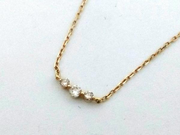 4℃(ヨンドシー) ネックレス美品  K18YG×ダイヤモンド