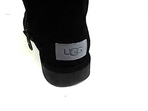 UGG(アグ) ロングブーツ 8 レディース アブリー 1009256 黒 ムートン