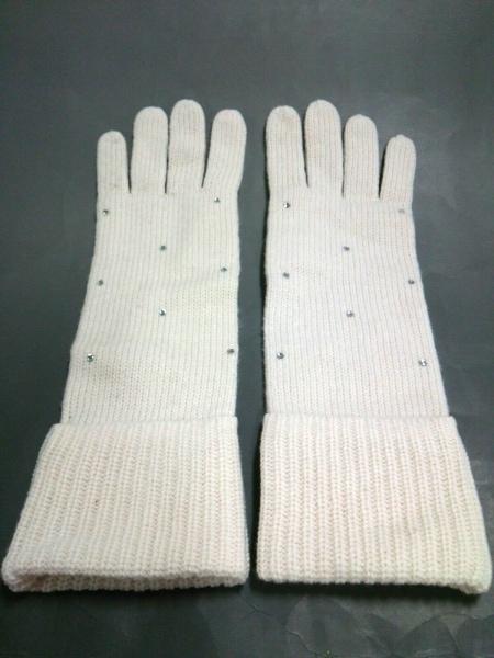 バナナリパブリック 手袋 ONESIZE レディース美品  アイボリー 2