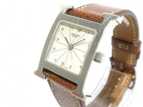 HERMES(エルメス) 腕時計 Hウォッチ HH1.210 レディース □E アイボリー