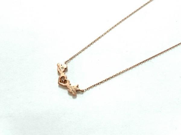テイクアップ ネックレス美品  K10YG×ダイヤモンド 1Pダイヤ/0.01カラット/Disney
