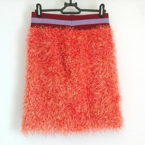 パメオポーズ スカート サイズF レディース美品  オレンジ×ボルドー×パープル