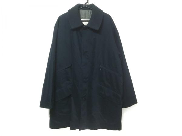 TRUSSARDI(トラサルディー) コート サイズM メンズ ネイビー ネーム刺繍/冬物