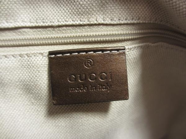 GUCCI(グッチ) ハンドバッグ シマライン 247902 ダークブラウン レザー