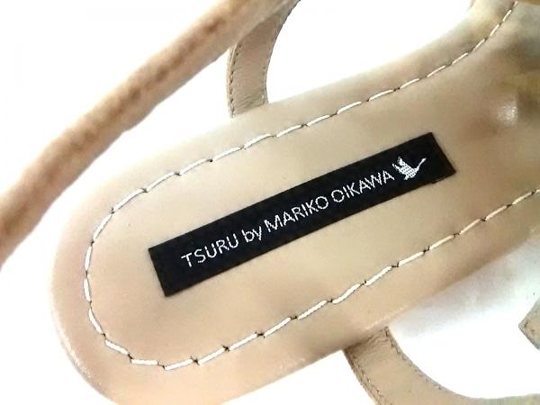 ツルバイマリコオイカワ サンダル 37 レディース美品  黒 リボン