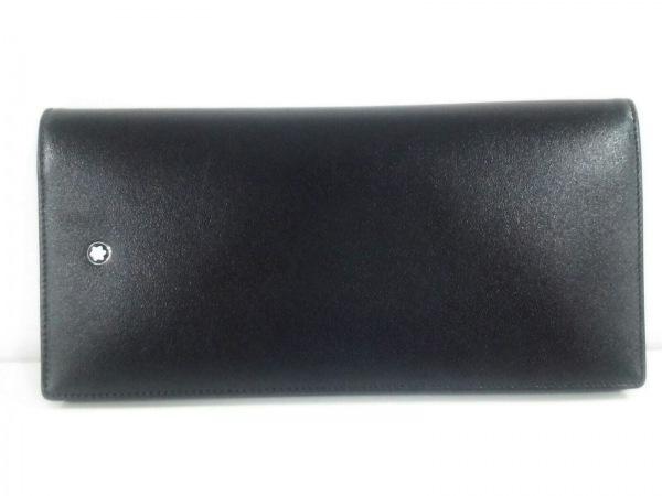 MONTBLANC(モンブラン) 長財布美品  黒 レザー