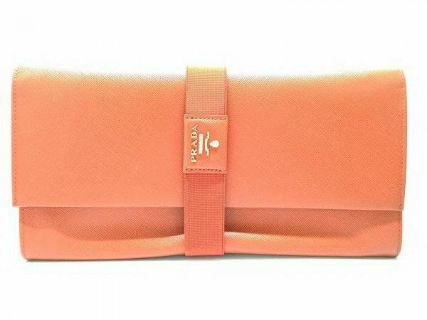 PRADA(プラダ) 財布 - オレンジ サフィアーノレザー