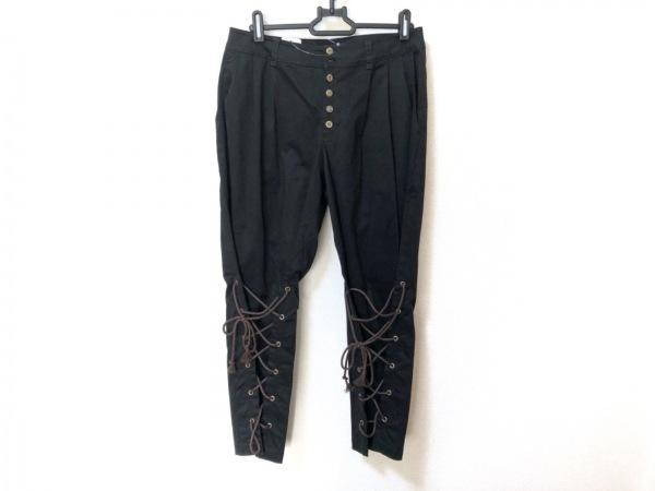 Lois CRAYON(ロイスクレヨン) パンツ サイズM レディース美品  黒×ブラウン