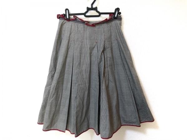 Lois CRAYON(ロイスクレヨン) スカート サイズM レディース美品  グレー×黒×マルチ