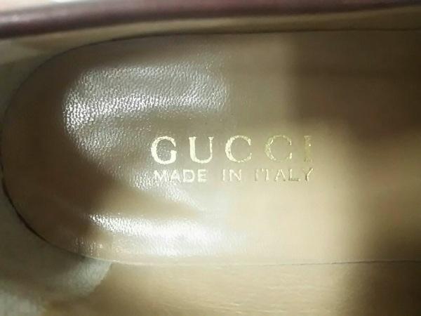 GUCCI(グッチ) ローファー 37 1/2 C レディース美品  ブラウン レザー