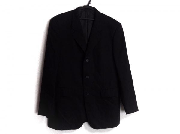 エーエーアールヨウジヤマモト ジャケット メンズ 黒×グレー DURBAN/ストライプ