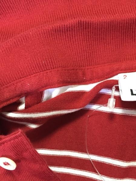 Lacoste(ラコステ) 半袖ポロシャツ サイズ2 M メンズ美品  レッド×白 ボーダー