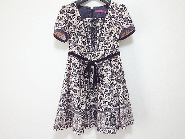 DOLLY GIRL(ドーリーガール) ワンピース サイズ2 S レディース美品  ピンク×黒 花柄