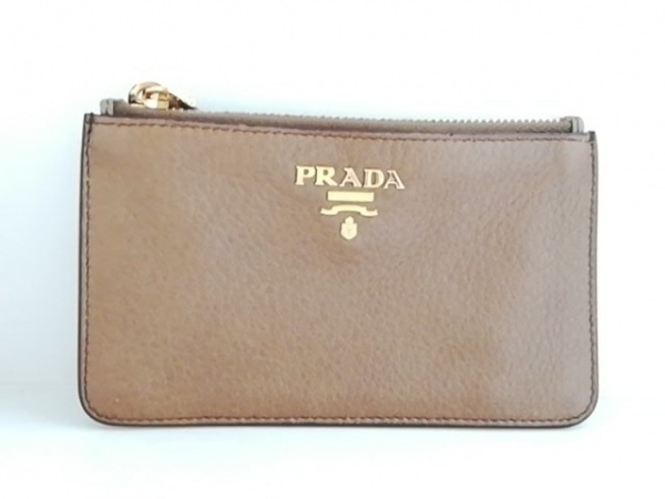PRADA(プラダ) コインケース - ブラウン レザー