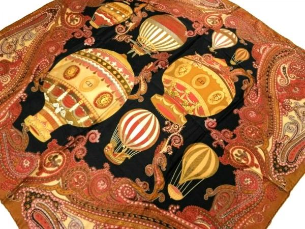 ChristianDior(クリスチャンディオール) スカーフ美品  ブラウン×レッド×マルチ