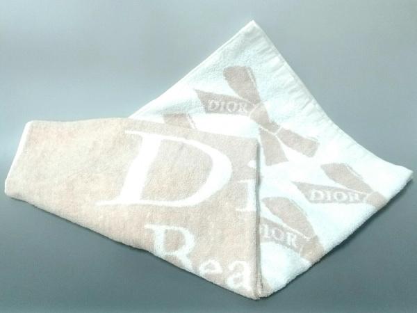 Dior Beauty(ディオールビューティー) 小物 ベージュ×白 バスタオル コットン