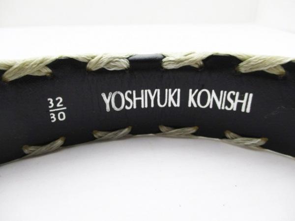 YOSHIYUKI KONISHI(ヨシユキコニシ) ベルト 32/80 黒 レザー