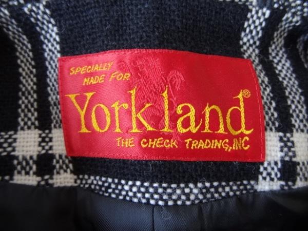 YORKLAND(ヨークランド) ダッフルコート サイズ11AR M レディース 黒×アイボリー
