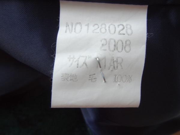 ヨークランド コート サイズ11AR M レディース美品  ダークネイビー×グリーン×黒