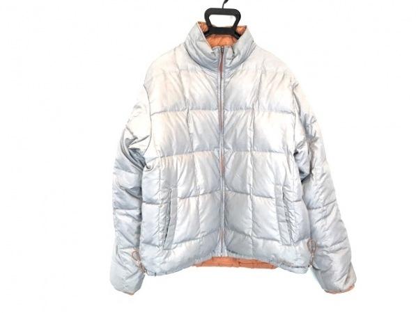 エルエルビーン ダウンジャケット サイズL メンズ美品  ライトグレー×オレンジ