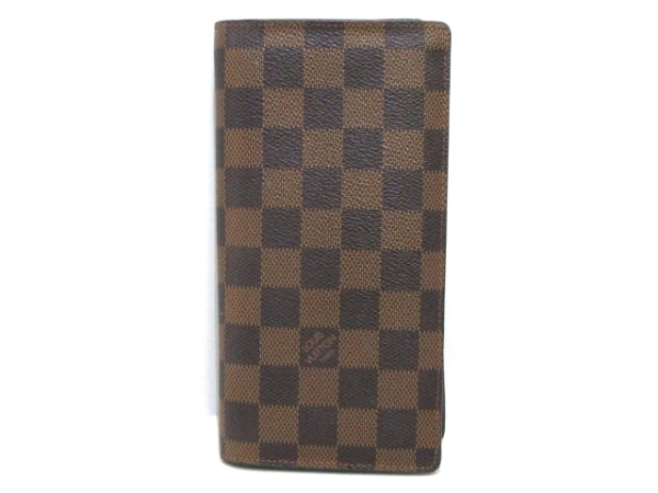 LOUIS VUITTON(ルイヴィトン) 長財布 ダミエ ポルトフォイユ・ブラザ N60017 エベヌ
