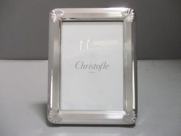 Christofle(クリストフル) 小物新品同様  シルバー×黒×クリア 写真立て