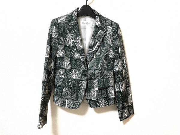マックスマーラ ジャケット サイズ36 S レディース美品  ダークグリーン×白 肩パッド