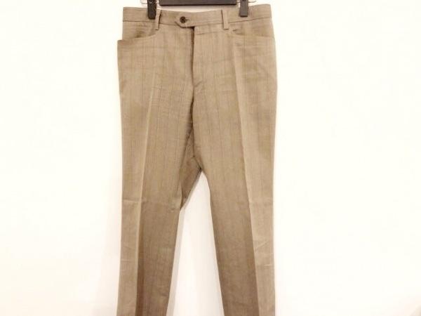 ジョセフオム パンツ サイズ48 XL メンズ ライトブラウン×ブラウン ストライプ