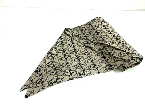THOMAS WYLDE(トーマスワイルド) スカーフ新品同様  ベージュ×黒 スカル