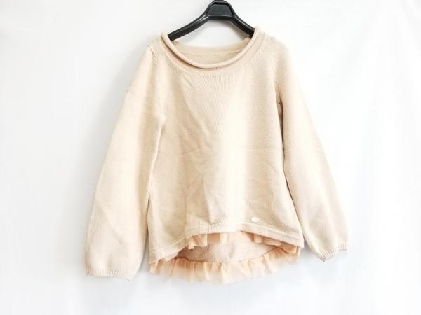 DAISY LIN(デイジーリン) 長袖セーター サイズ40 M レディース ベージュ×オレンジ