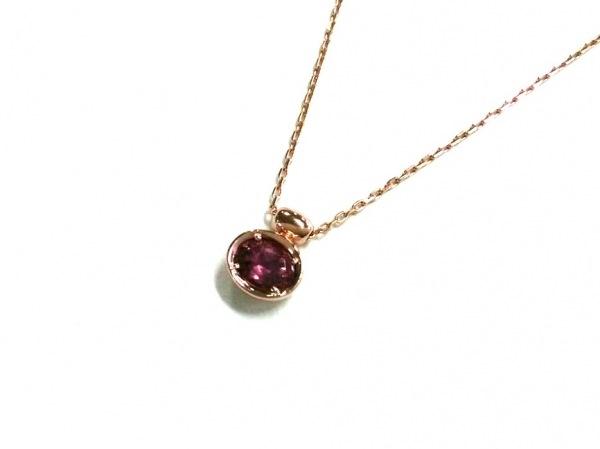 veretta8va(ヴェレッタオッターヴァ) ネックレス美品  K14PG×カラーストーン ピンク