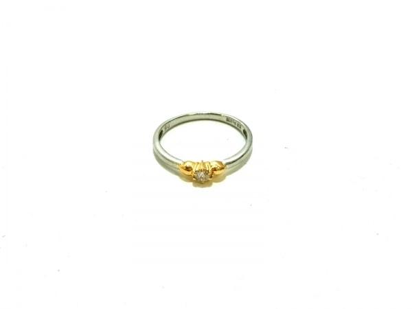 ノーブランド リング美品  K18×Pt900×ダイヤモンド クリア 総重量:2.0g/08刻印