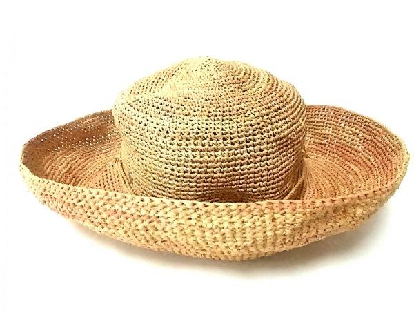 HELEN KAMINSKI(ヘレンカミンスキー) 帽子 ベージュ×ライトブラウン ラフィア