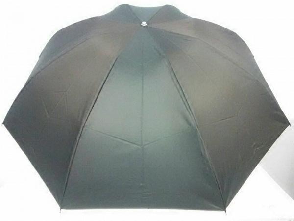 CELINE(セリーヌ) 折りたたみ傘美品  ダークグリーン×ダークブラウン ポリエステル