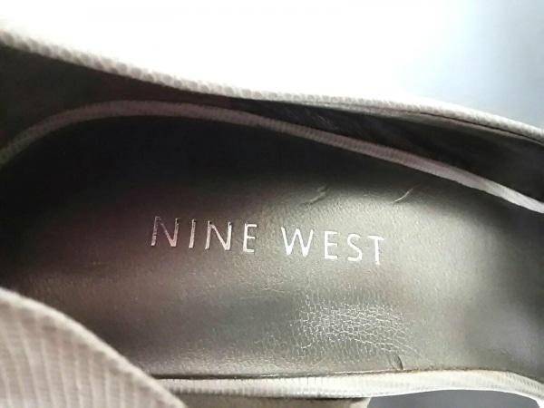 NINE WEST(ナインウエスト) サンダル 61/2M レディース美品  ベージュ×クリア