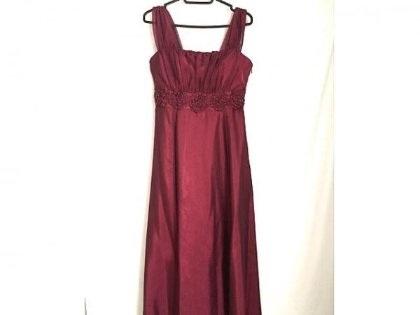 aimer(エメ) ドレス サイズ13 L レディース レッド フラワー/ビーズ/マキシ丈