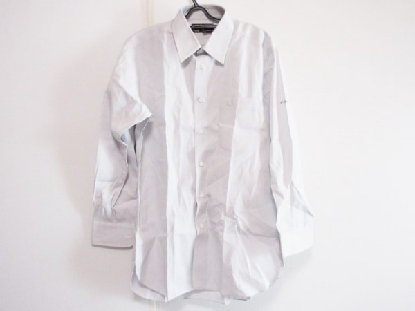 ダンヒル 長袖シャツ サイズGI メンズ ライトグレー イニシャル刺繍