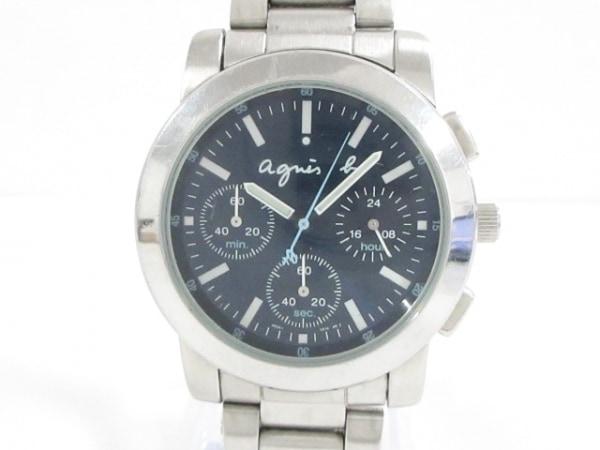 agnes b(アニエスベー) 腕時計 V654-0A10 メンズ クロノグラフ ダークネイビー
