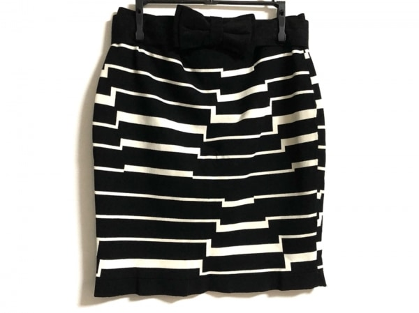 バンドオブアウトサイダーズ スカート サイズ1 S レディース 黒×白