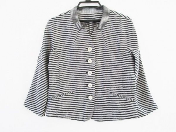 ARTISAN(アルチザン) ジャケット サイズ9 M レディース グレー×黒 春・秋物/ボーダー