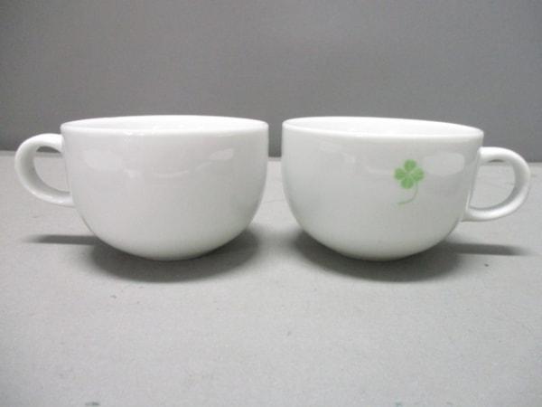 アフタヌーンティー 食器新品同様  白×グレー マグカップ&プレート×2 陶器