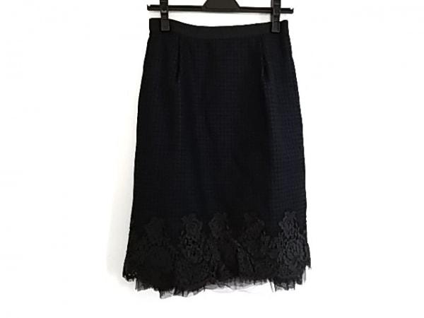 ランバンオンブルー スカート サイズ38 M レディース美品  チェック柄/花柄/レース