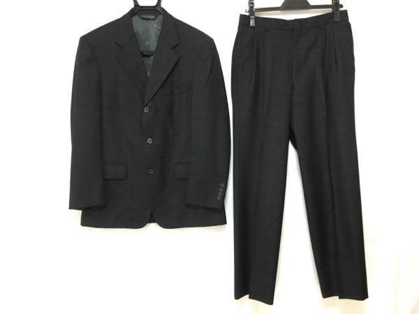ブルックスブラザーズ シングルスーツ サイズ3630w メンズ美品  ダークグレー×ブルー