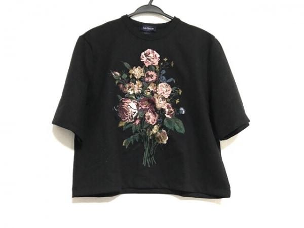 ロイスクレヨン 半袖Tシャツ サイズM レディース美品  黒×グリーン×マルチ