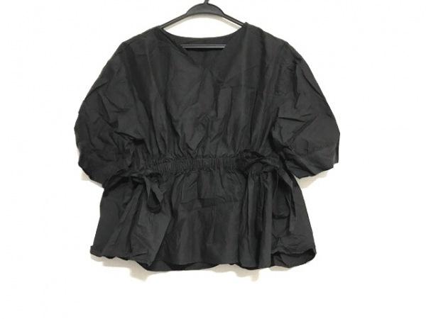 Lois CRAYON(ロイスクレヨン) 半袖カットソー サイズM レディース美品  黒 ゴム入り