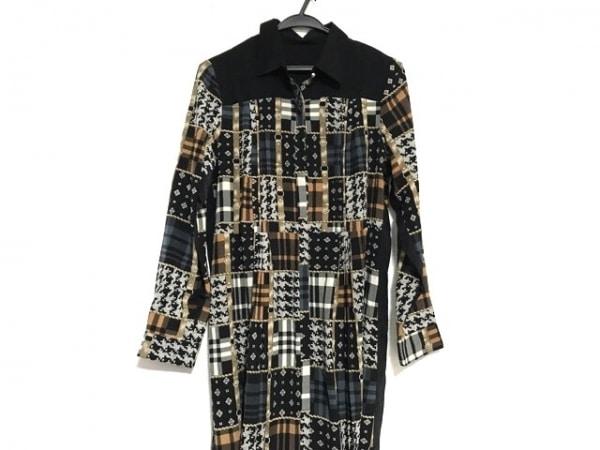 Lois CRAYON(ロイスクレヨン) ワンピース サイズM レディース美品  黒×マルチ