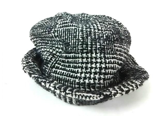 CHRISTOPHE COPPENS(クリストフコパンス) 帽子美品  黒×白 ウール