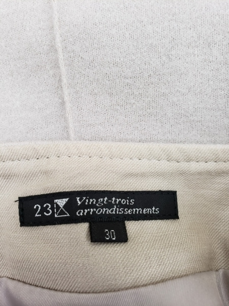 23区(ニジュウサンク) スカート サイズ30 XS レディース ベージュ