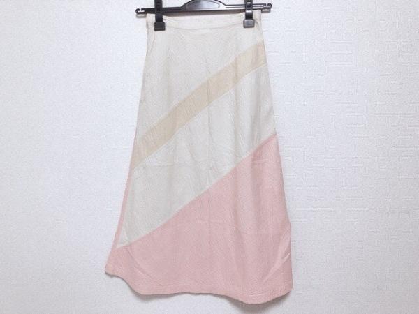 HaaT HeaRT(ハート) スカート サイズ1 S レディース アイボリー×ベージュ×ピンク