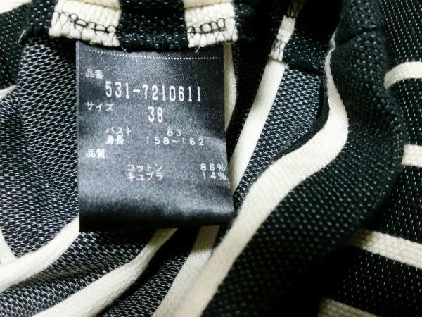 アドーア 半袖カットソー サイズ38 M レディース美品  黒×アイボリー ボーダー